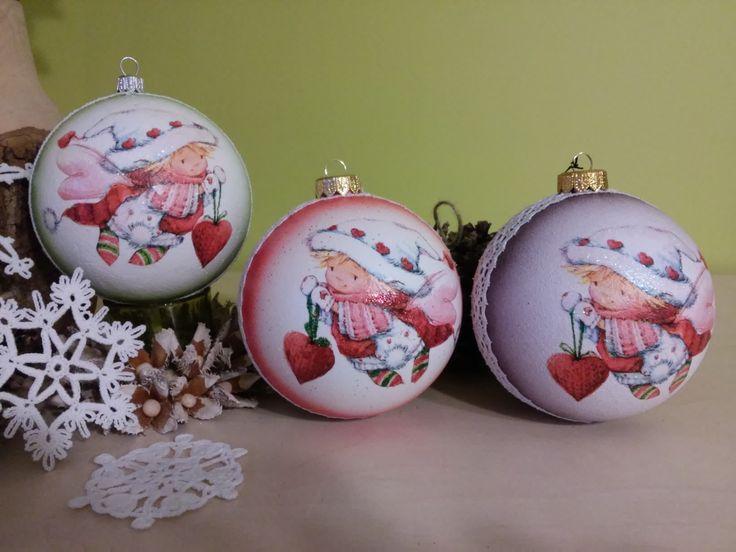 moje bombki decoupage i szdełkowe gwiazki mamusi, ozdoba świąteczna, ornaments