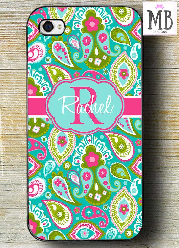Pink Paisley iPhone 6 case Pink & Teal iPhone 6 by MacyBlueDesigns