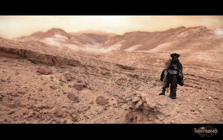"""Still from the postapocalyptic no budget film """"Nostromo"""", shot in Tunisia"""