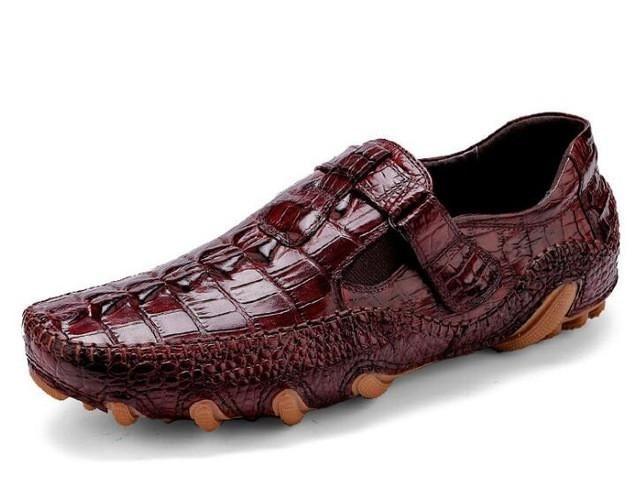 Sipriks Smart Mens Loafers Unique Designer Loafers Crocodile Skin