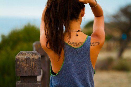 //Tattoo Placs, Tattoo Placements, Tattoo Ideas, Tattoo Pattern, Pretty Style, Back Tattoos, Ink D Beautiful, Tattoo Girls, A Quotes