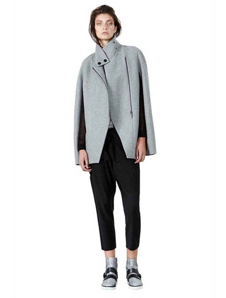 Akin By Ginger & Smart - Embrace Cape - Grey Marle