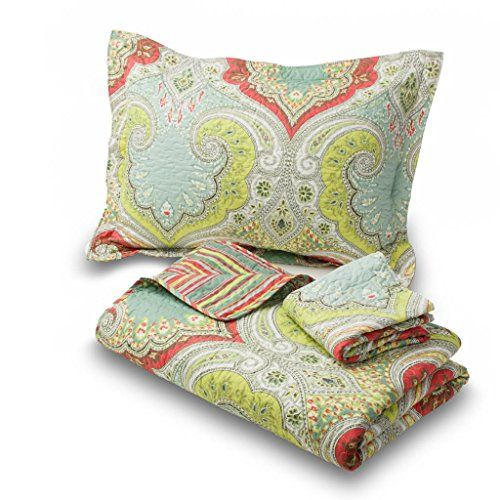 Amadora Reversible Luxury King Paisley quilt Quilt Set with Shams Kenlee King Features Bright and Attractive Colors, a Wonderful Design and Rich Textures; Durable and Designed for Years of Use, This Warm Yet Lightweight Quilt Can Be Used Year Round with Virtually No Maintenance King: 106 x 92; Shams 37 x 21 Amadora http://smile.amazon.com/dp/B00KM3EV1O/ref=cm_sw_r_pi_dp_3TZfwb0ET5YXC