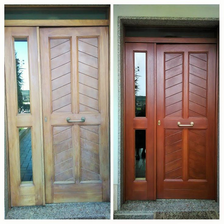 Teakwood Front Door Renovation With Wather Based Products