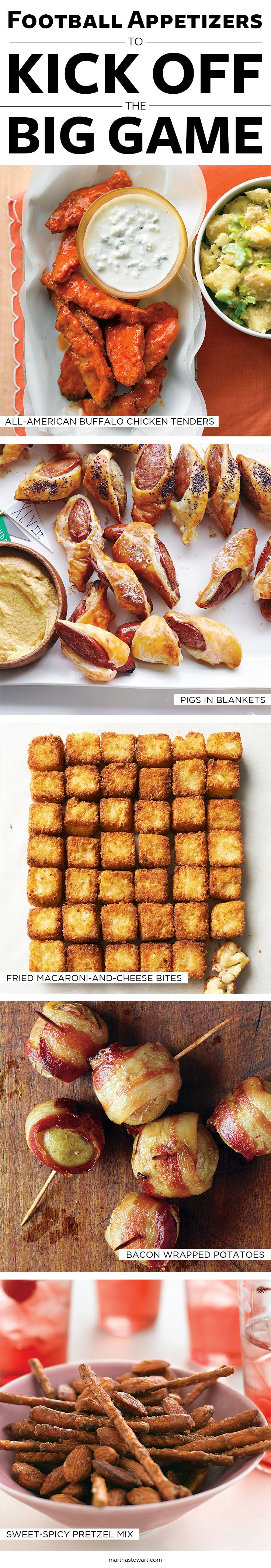 Football Appetizers to Kick Off the Big Game | Martha Stewart Living