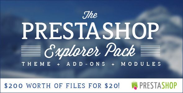 The PrestaShop Explorer Pack is on for 1 Week only!