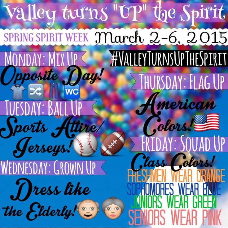 "Creative ""Up"" spirit week theme"