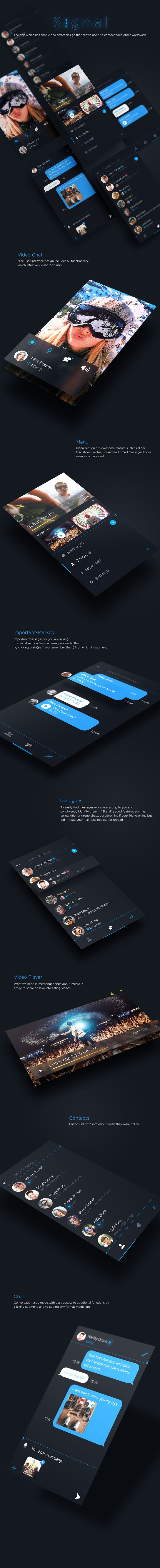 Signal – Messenger AppIt contains 7 unique PSD files fully editables. There are amazing elements and design. It's perfect for iOS. Use for iPhone App design. Colorfull style and dimensions can be easily changed. Elements are organized in folders. Layere…