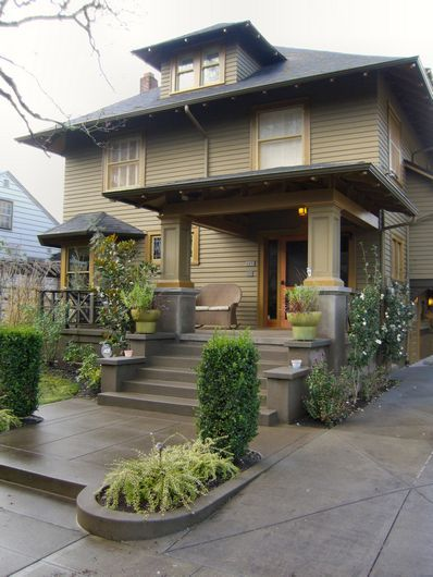 1906 Craftsman American Foursquare. This COULD be like ours, before previous owners took off our front porch...