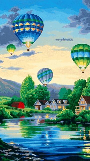 Heißluftballon / Hot Air Balloon - Gif