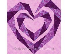 Torcer el bloque de corazón espiral del edredón, papel reconstruido colcha…