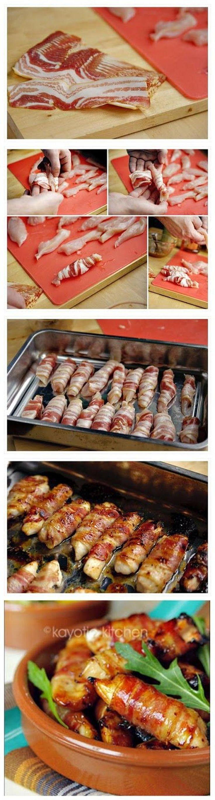 Bekijk de foto van angellove1968 met als titel Kip met bacon     1 pound boneless chicken breasts 20 thin bacon slices 3 tbsp honey 2 tsp coarse mustard fresh lemon juice  en andere inspirerende plaatjes op Welke.nl.