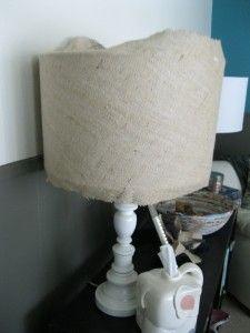 Burlap Lamp Shades Tutorial | Salt & Sequins