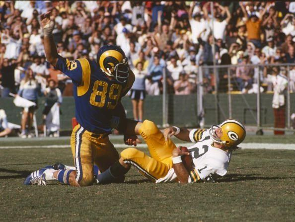 awesome 44 Years ago today Rams DE Fred Dryer became the first - and still the ONLY - player to score 2 safeties in one NFL game.