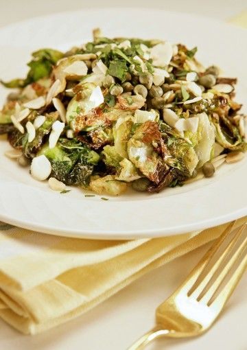 A salad made with deep-fried Brussels sprout leaves by Cleo restaurant. (Ricardo DeAratanha, Los Angeles Times)