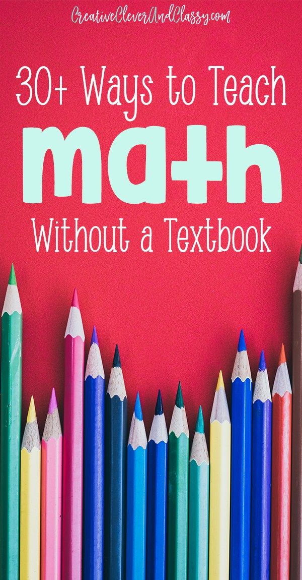 Get hands-on math ideas and try these 30+ ways to teach math without a textbook, with interactive ideas from kindergarten to high school.