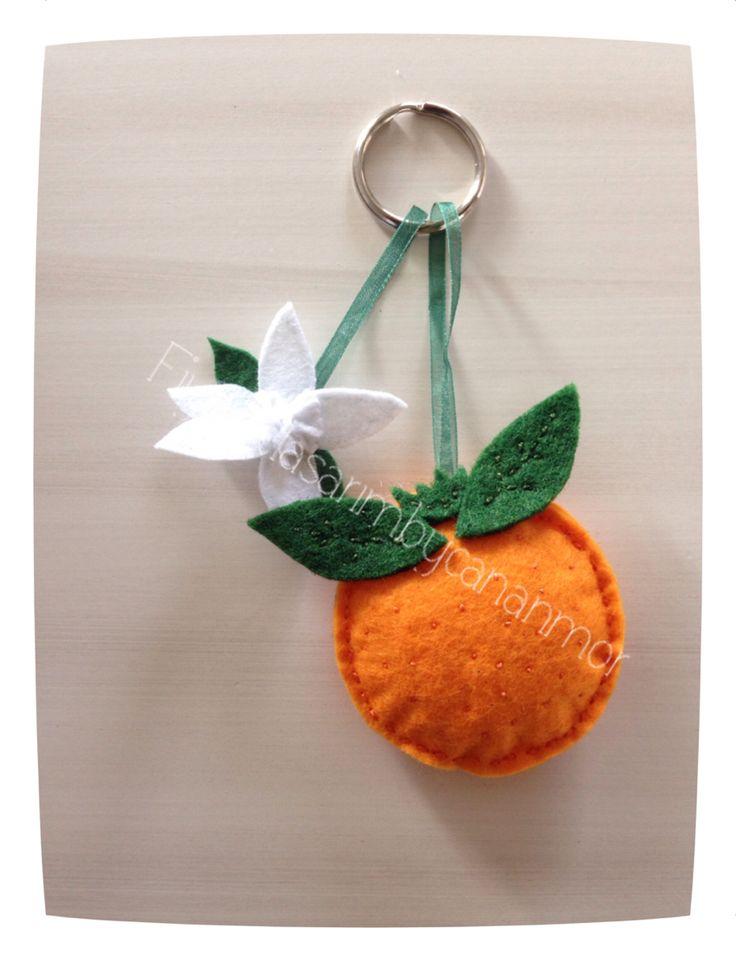 Nisanda adanada,portakal çiçeği karnavalı,handmade anahtarlık