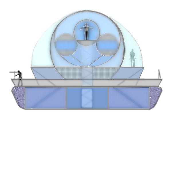 Intérieur relatif ( version possible #1 ) de la Montgolfière aéro-spatiale d'orbite et d'élévation