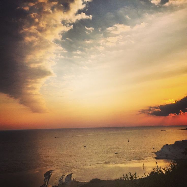 #sicily #scaladeiturchi #sunset #northafrica