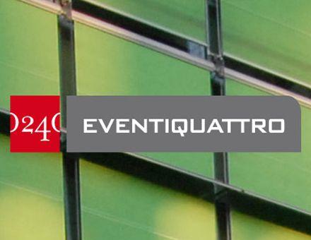 EVENTIQUATTRO  (30/10/2009)  Lo spazio dove le idee diventano valore.  L'architettura di Renzo Piano, l'istituzione del gruppo, il prestigio della testata economica più importante d'italia, le competenze per costruire eventi con soluzioni su misura, vengono messe a disposizione della cultura d'impresa. Carmi e Ubertis Milano ha costruito la nuova immagine di questo servizio.