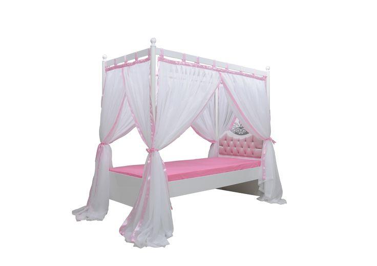 Kinderbed hemelbed prinses roze. Kijk op By MM Store voor dit bed en vele andere bedden en kinderkamers. Bestel direct online of kom naar onze showroom.