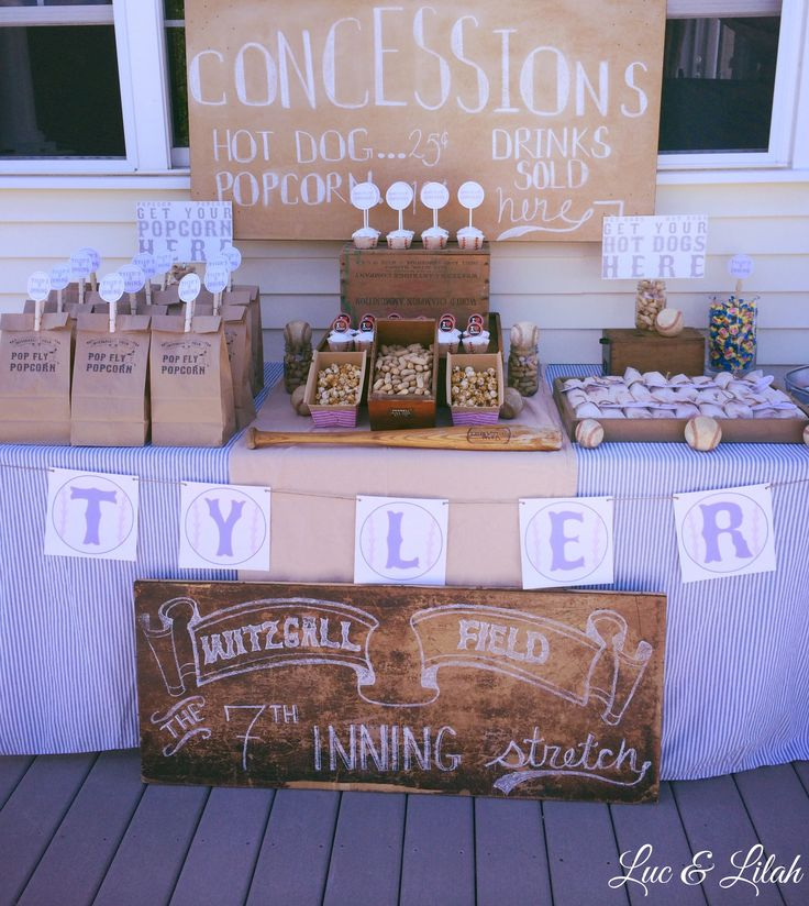 Vintage Baseball Party by Luc & Lilah Events!
