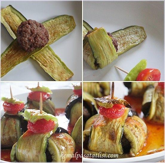 İslim Kebabı ( Köfteli Patlıcan Kebap ) | Tarifler