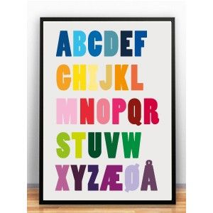 Froh und Frau Alfabet 3 Plakat