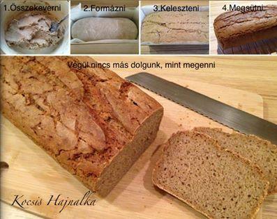 Rozskenyér  10-15 perces munkával  (nem kell dagasztani, csak kanállal összekeverni) ronda, de finom rozskenyér. Recept: http://www.mokuslekvar.hu/rozskenyer/