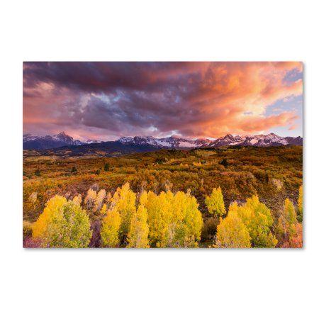 Trademark Fine Art 'Epic Fall' Canvas Art by Dan Ballard, Size: 12 x 19, Multicolor
