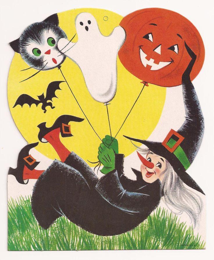 463 best HALLOWEEN VINTAGE images on Pinterest Happy halloween - vintage halloween decorations