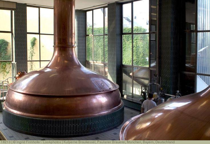 Kufperne Braukessel, Paulaner Brauerei, München, Bayern, Deutschland