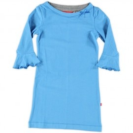 Cool and girly (Bengh skinny dress volant blue 4838 34)