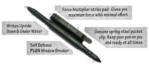 Hoffman Richter Tactical Pen - Every Writer Should Carry One! Hoffman Richter Tactical Pen – devastatingly effective defense tool that ONLY YOU know you're carrying!