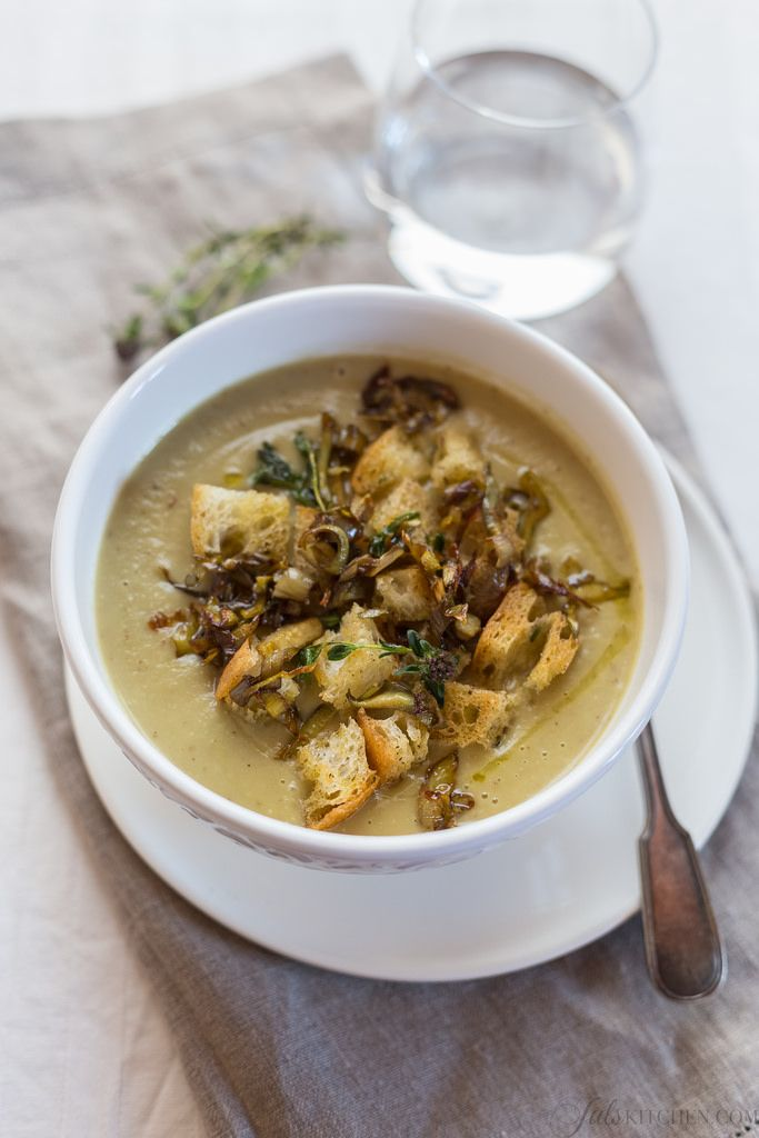 Artichoke and potato soup