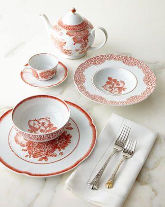 Coralina Dinnerware by Vista Alegre by Oscar de la Renta at Horchow.