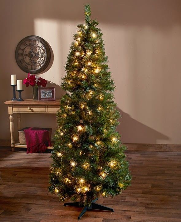 6 Ft Prelit Christmas Tree Green Pop Up Clear Color Lights Easy Setup Take Down Varietydealsonline
