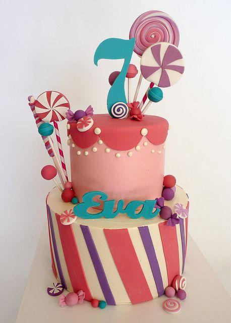 Candy birthday cake.