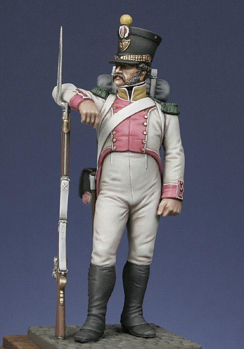 Voltigeur 8th line regiment, Kingdom of Naples 1813.