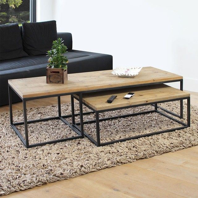 Table Basse Industrielle Gigogne Dimensions Hxlxp 42 X 150 X 60 Cm Livre Monte Non Demon Table Basse Industrielle Meuble Table Basse Table Basse Moderne