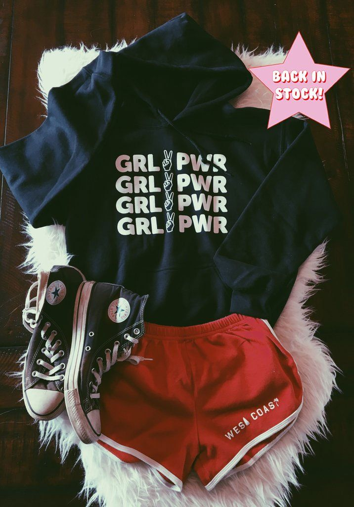 Girl Power Hoodie – Schwarz