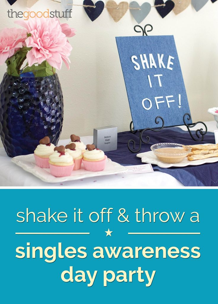 Shake It Off & Throw a Singles Awareness Day Party | thegoodstuff #singlesawarenessday #galentineday #recipes