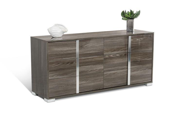 Modrest San Marino Modern Grey Bedroom Set - Modern Bedroom - Bedroom