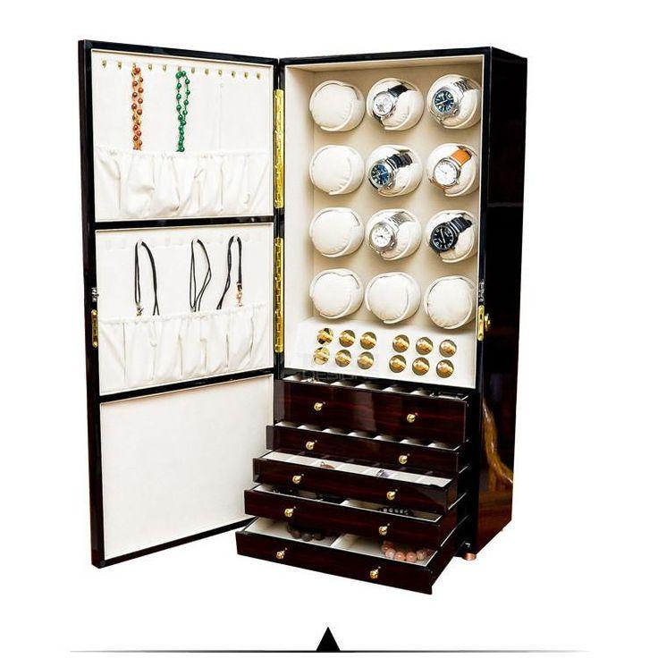 Luxury wooden watch winder cabinet 12 Automatic watch reel winder JAPAN Motors