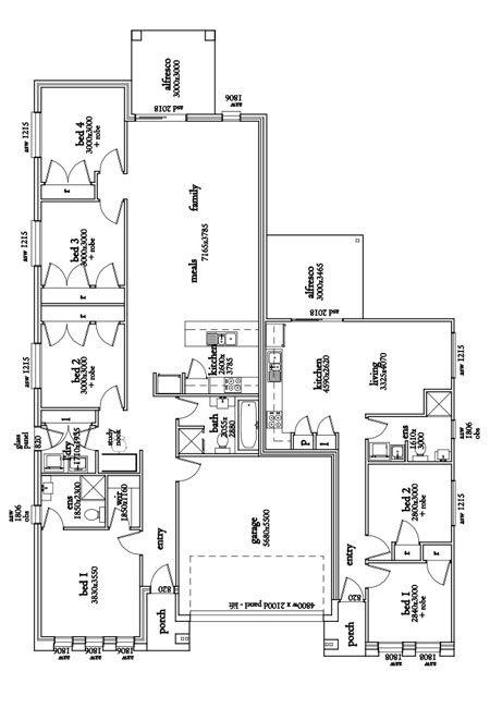 Multi Gen Floor Plan Single Story House Plans Granny