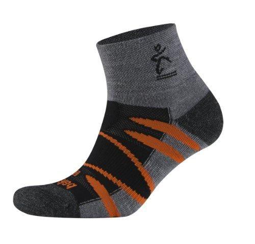 Balega Moh-Rino Outdoor V-Tech Enduro Quarter Socks - Black Orange 8957  #Balega #Apparel