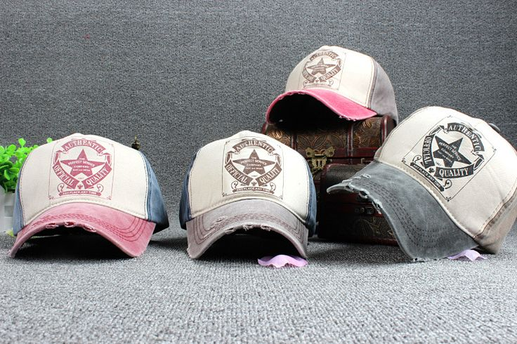 10 шт. бесплатная доставка / 2015-A995 же старые изношенные пятизвездочный печать бейсболка мужчины и женщины досуга шляпу