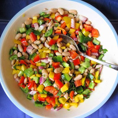 Try making this healthy bean and pepper salad the next time you need a quick side dish.