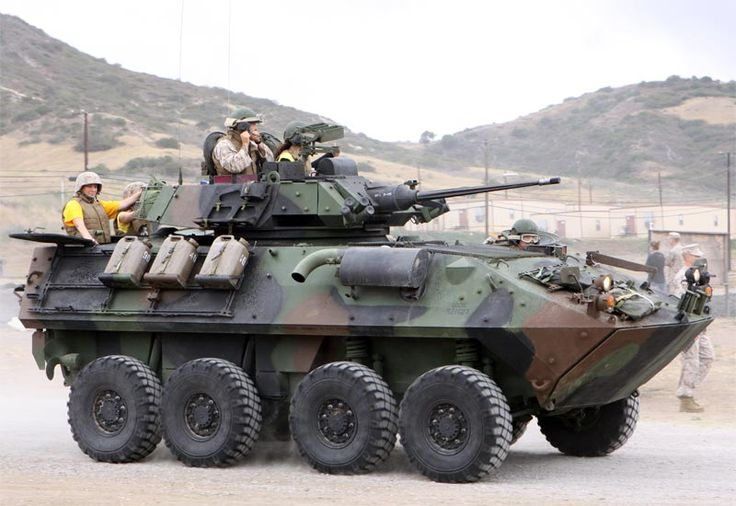 LAV-25 (Light Armored Vehicle 25) - The Canadian-produced LAV-25 eight-wheeled armored vehicle is a mainstay of United States Marines land force elements..