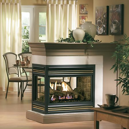 19 best images about see through fireplaces on pinterest for Open sided fireplace